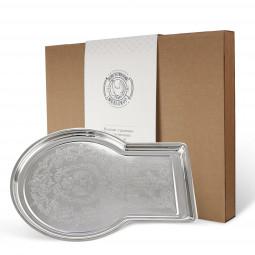 Поднос для самовара с гравир. рисунком никел. в коробке Кольчугино \ С9108/2_К