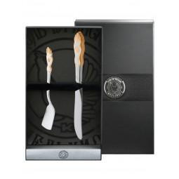 """Набор для завтрака """"Герб"""" ч/п 2 пр. нож для масла+лоп для икры Кольчугино \ КМ3950202"""