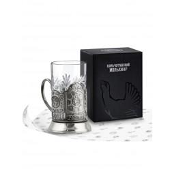 """Набор для чая """"Штурвал"""" никелированный с чернью Кольчугино \ НБС7408/2"""