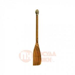 """Лопатка деревянная с латунной накладкой """"Малина"""" узкая Кольчугино \ КМ468ЛП06"""
