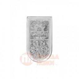Поднос для чая никелированный Кольчугино \ С79708
