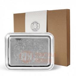 Поднос прямоугольный с гравированным рисунком никел. в коробке Кольчугино \ С79508_К