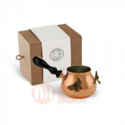 """Турка """"Бабочки"""" медная с лужением в коробке Кольчугино \ С99009/2_К"""