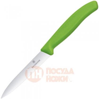 Нож для овощей SwissClassic 10 см зеленый Victorinox \ 6.7736.L4