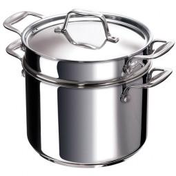 Кастрюля из нержавеющей стали для пасты с крышкой Pasta Fun 4.4 л 20 см Chef BEKA 12060004