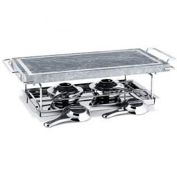 Гриль с каменной плитой 37х19 см мрамор/нержавеющая сталь Table Tops BEKA \ 14300704