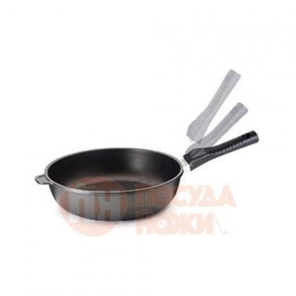 Сковорода глубокая со съемной ручкой из термопластика Risoli Click 24см \ 00104S/24TP0