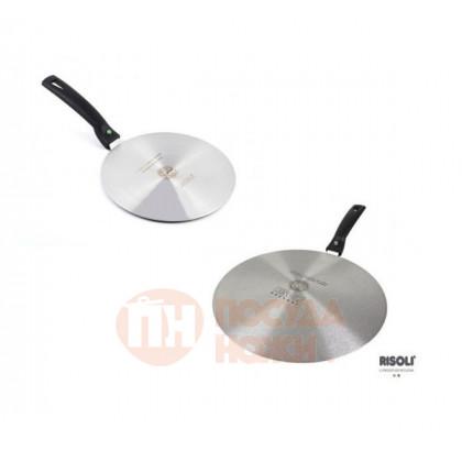 Адаптер для индукционной плиты 26см со съемной ручкой Risoli Premium \ 020080/26A00