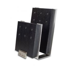 Подставка с магнитными держателями для 6-ти ножей (черная) Chef \ CH-001/BL