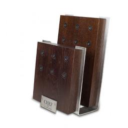Подставка с магнитными держателями для 6-ти ножей (коричневая) Chef \ CH-001/BR