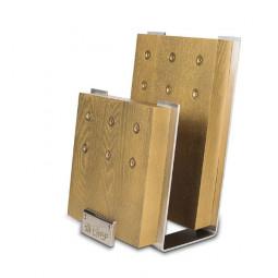 Подставка с магнитными держателями для 6-ти ножей (золотая) Chef \ CH-001/GL