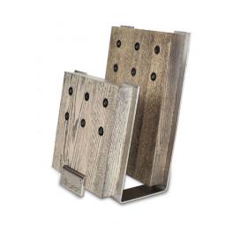 Подставка с магнитными держателями для 6-ти ножей ( Цвет -серый) Chef \ CH-001/GR