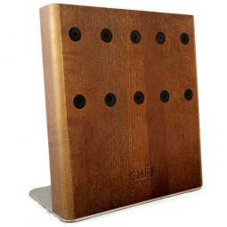 Подставка с магнитными держателями для 5-ти ножей (золотая) Chef \ CH-003/GL