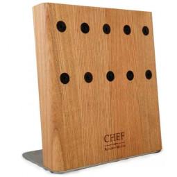 Подставка с магнитными держателями 5-ти ножей (натуральный ясень) Chef \ CH-003/NAT