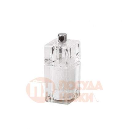 Мельница для соли 9 см Bisetti акрил прозрачная \ 839S