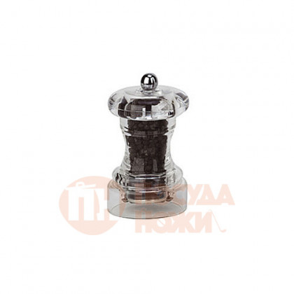 Мельница для перца 10 см Bisetti акрил прозрачная \ 822