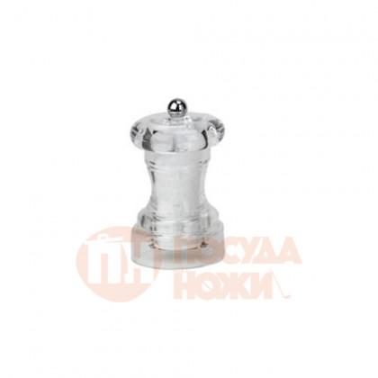 Мельница для крупной соли 10 см Bisetti акрил прозрачная \ 822S