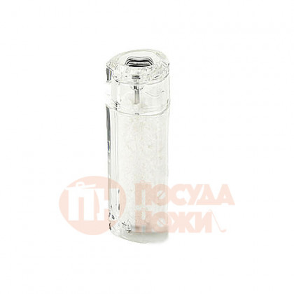 Мельница для соли 15 см Bisetti акрил прозрачная \ 9820S