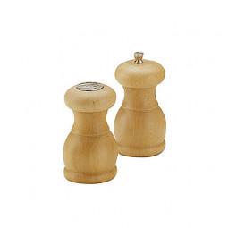 Набор для специй мельница для перца и солонка 11,5 см Bisetti светлое дерево орех \ 53/53SN