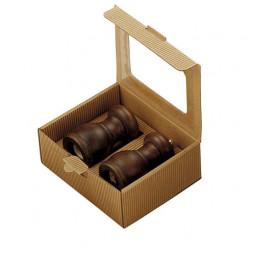 Набор для специй мельница для перца и солонка 11,5 см Bisetti темное дерево орех \ 53/53ST