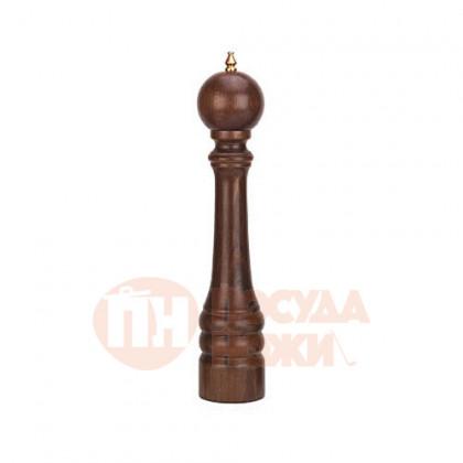 Мельница для перца 42,5 см Bisetti темное дерево орех. \ 9640T