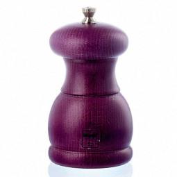 Мельница для соли деревянная 11,5 см Bisetti фиолетовая \ 5340