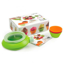 Набор детский Капкейки 6 силиконовых формочек для кексов и декоратор декомакс Lekue \ 3000004SURM017