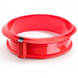Форма разъемная силиконовая с керамическим блюдом 23 см цвет :красный Lekue \ 2412323R01M017