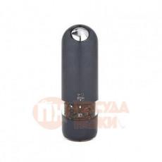 Мельница для перца электрическая 17 см черный кварц Alaska Quartz Peugeot \ 28503