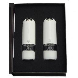 Набор мельниц для соли и перца электрическая 17 см белый поликарбонат Alaska DUO Peugeot \ 2/27667