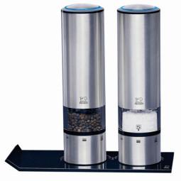 Набор мельниц для соли и перца электрических с подставкой 20 см Duo Sense и Alpha Peugeot \ 2/27162