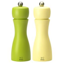 Набор мельниц  для соли и перца 15 см желтый+салатовый Tahiti set Peugeot \ 2/33262
