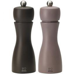 Набор мельниц  для соли и перца 15 см кофе+пралине Tahiti set Peugeot \ 2/33293