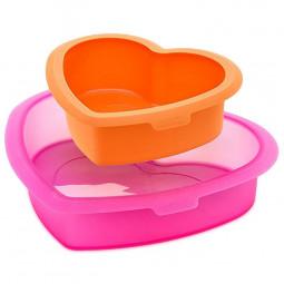 """Набор силиконовых форм для торта """"Сердце"""" 2 пр. Lekue \ 4603000SURM019"""