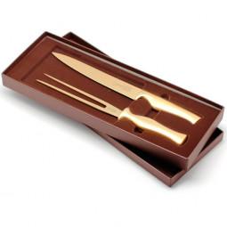 Набор разделочный нож+вилка IVO Virtu Gold \ 39021