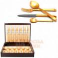 Набор столовых приборов ERGO GOLD матовый  на 6 персон 24 пр. CUTIPOL  \ 9122