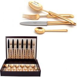 Набор столовых приборов CARRE GOLD  24 пр. CUTIPOL  \ 9131
