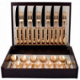 Набор столовых приборов PICCADILLY GOLD  на 6 персон 24 пр. CUTIPOL  \ 9141