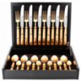 Набор столовых приборов PICCADILLY GOLD матовый  на 6 персон 24 пр. CUTIPOL  \ P1.006.GB