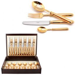 Набор столовых приборов MITHOS GOLD  на 6 персон 24 пр. CUTIPOL  \ 9151