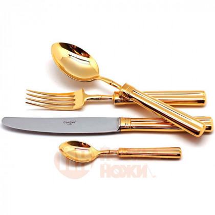 Набор столовых приборов FONTAINEBLEAU GOLD на 6 персон 24 пр. CUTIPOL  \ P1A.006.G