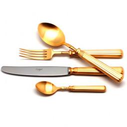 Набор столовых приборов LINE GOLD матовый  на 6 персон 24 пр. CUTIPOL  \ 9172