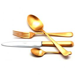 Набор столовых приборов ATLANTICO GOLD матовый  на 6 персон 24 пр. CUTIPOL  \ 9202