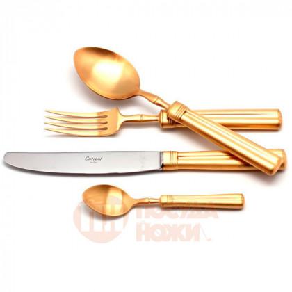 Набор столовых приборов на 12 персон FONTAINEBLEAU GOLD матовый  72 пр. CUTIPOL  \ 9162-72