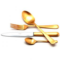 Набор столовых приборов на 12 персон ATLANTICO GOLD матовый  72 пр. CUTIPOL  \ 9202-72