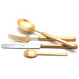 Набор столовых приборов на 12 персон BALI GOLD матовый  72 пр. CUTIPOL  \ 9312-72
