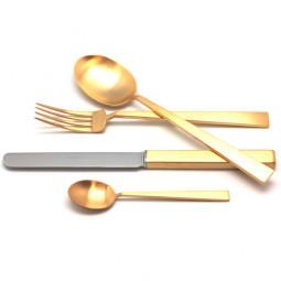 Набор столовых приборов на 12 персон BAUHAUS GOLD матовый  72 пр. CUTIPOL  \ 9322-72