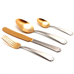 Набор столовых приборов SIRIUS MAT+OLD GOLD на 6 персон 24 пр. HERDMAR   \ 183302401172000021