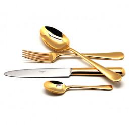 Набор столовых приборов на 12 персон Cutipol  Atlantico Gold на 12 персон 72 пр.  золото зеркальная полировка \ 9201-72