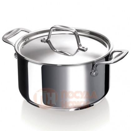 Кастрюля из нержавеющей стали 5 л 24 см Chef BEKA \ 12061244